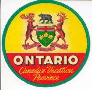 Canada's vacation province Ontario