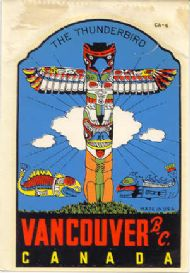 Thunderbird Totempole Vancouver
