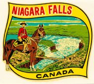 Niagara Falls and Mountie