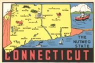 State Map Nutmeg State