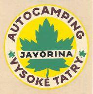 Autocamping vysoke Tatry Javorina