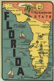State Map Sunshine State (turquoise sea)