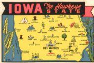 State Map Hawkeye State
