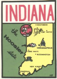 State Map Hoosier State