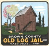 Nashville, Brown Co. Old Log Jail