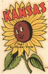 Sunflower, cartoon face,copyright 1951