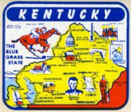 State Map Bluegrass State white background