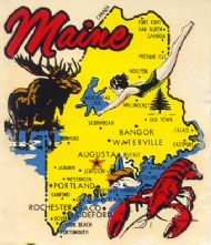 State Map with Moose and Lobster