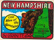 State Map Granite State, Old Man of the Mountains