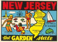 State Map Garden State lighter color