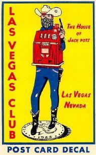 Las Vegas Club Postcard decal