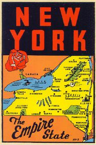 State Map Empire State, Rose