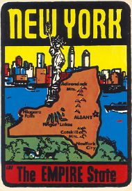 State Map Empire State, Skyline