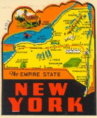 State Map Empire State, Deer