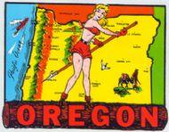State Map Pinup on Log