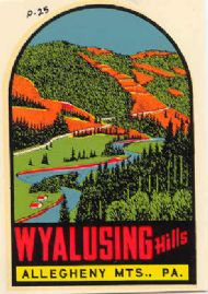 Wyalsuing Hills, Alleghene Mountains