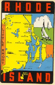 State Map Little Rhody
