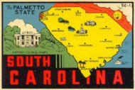 State Map Palmetto State