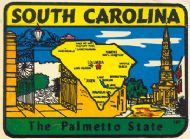 State Map Palmetto State lighter color