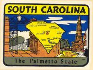 State Map Palmetto State darker color