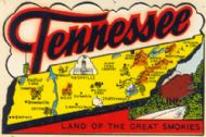 State Map Land of the Great Smokies