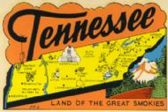 State Map Land of the Great Smokies, orange