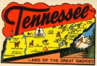 State Map Land of the Great Smokies, red