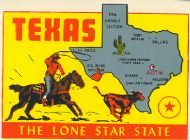 State Map Lone Star State, grey state