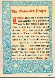 The Motorist's Prayer