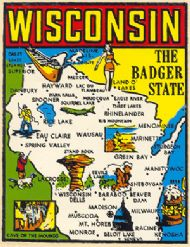 State Map Badger State