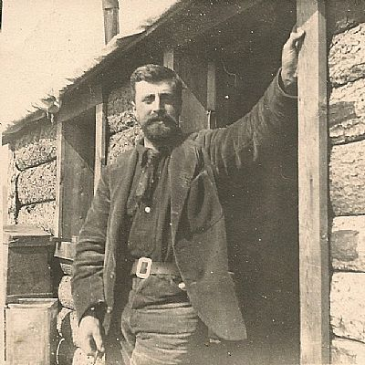 sutherland murray outside his house in the yukon