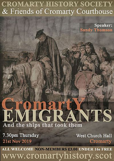 poster for cromarty emigrants