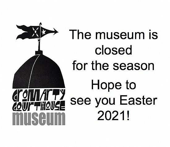 poster saying the museum is closed for 2020