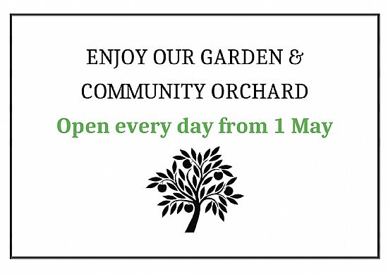 garden open every day from 01 may 2021
