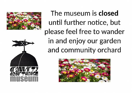 the museum is closed but please visit our community garden