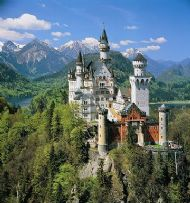 castle neuschwanstein, built by the bavarian king ludwig