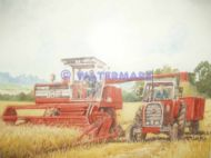 Massey Fergusson combine and tractor