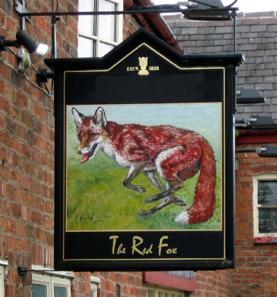 the red fox, tarporley