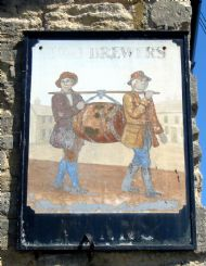 Two Brewers Wall Sign, Olney, Bucks.