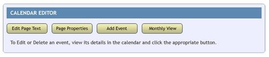 spanglefish calendar - editing buttons
