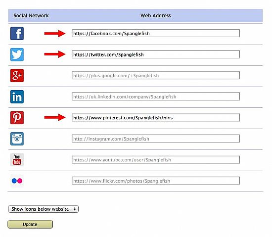 social network icon addresses