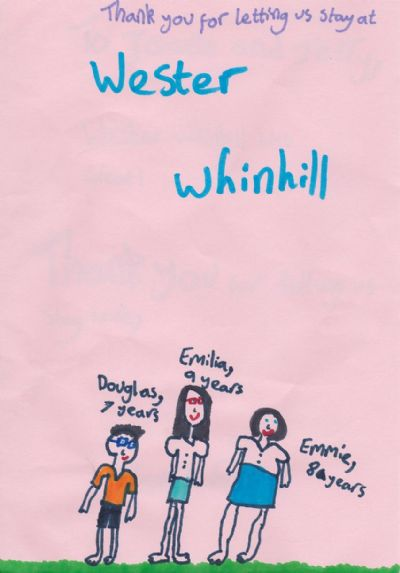 a message from emilia, emmie & douglas (click for more)