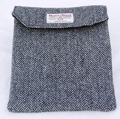 reverse of harris tweed tablet cover