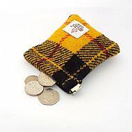 Mens flex top coin purse Macleod tartan