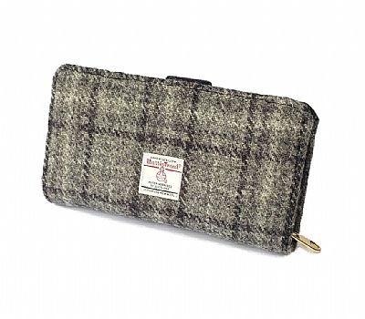 grey harris tweed purse by roses workshop