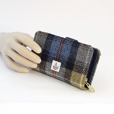 mackenzie tartan harris tweed purse by roses workshop