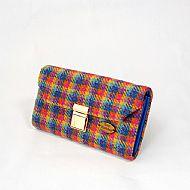 Harris tweed large purse bright multicolour