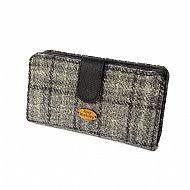 Harris tweed large purse grey