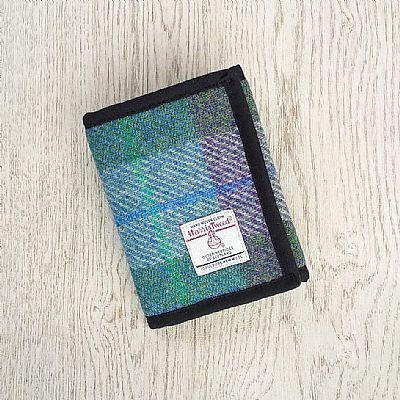 harris tweed fabric wallet by roses workshop