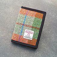 Harris tweed wallet brick red turquoise green